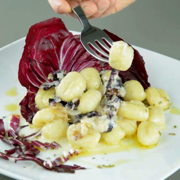 Gnocchi with Radicchio and Taleggio