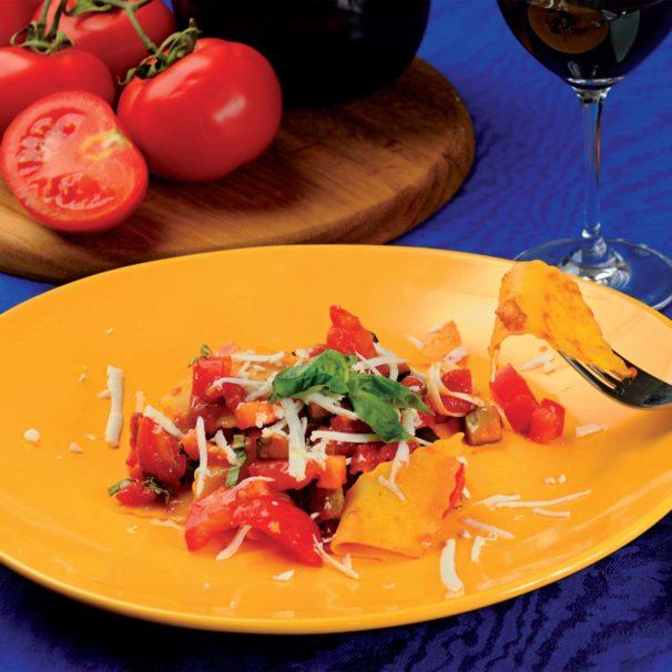 Cucinare Italy - maltagliati with caponata